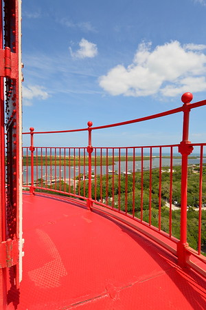View from atop St Augustine Lighthouse, St Augustine, FL. © 2021 Kenneth R. Sheide