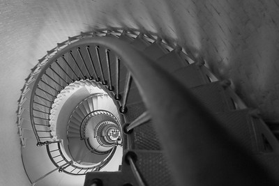 Stairs of Ponce de Leon (formerly Mosquito) Inlet Lighthouse, Ponce Inlet, FL. © 2021 Kenneth R. Sheide