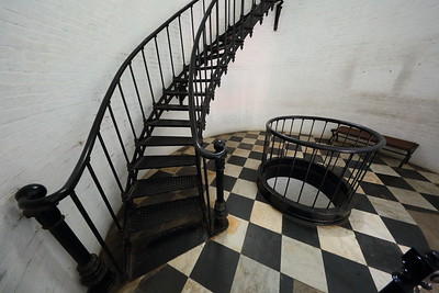 Base of tower stairs. St Augustine Lighthouse, St Augustine, FL. © 2021 Kenneth R. Sheide