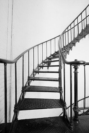 Stairs up tower of St Augustine Lighthouse, St Augustine, FL. © 2021 Kenneth R. Sheide