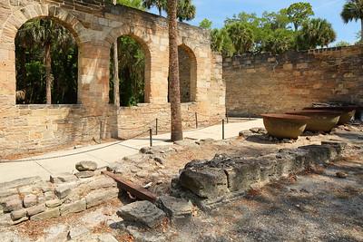 Cruger-dePeyster Plantation Sugar Mill ruins. New Smyrna Beach, FL. © 2021 Kenneth R. Sheide