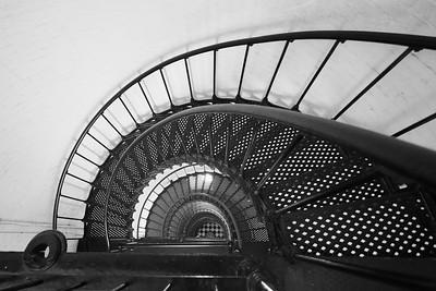 View down stairwell at St Augustine Lighthouse, St Augustine, FL. © 2021 Kenneth R. Sheide