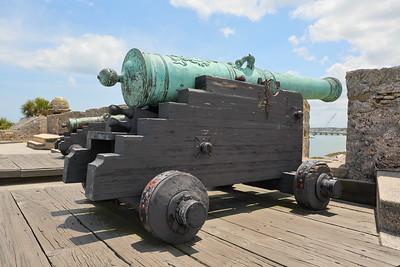 Cannon within Castillo de San Marcos, St Augustine, FL. © 2021 Kenneth R. Sheide