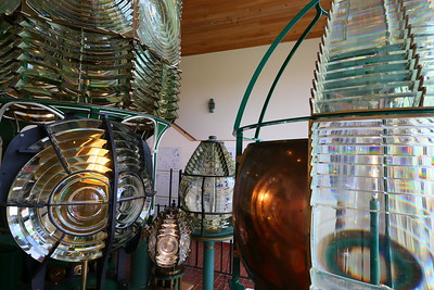 Fresnel lenses on display at Ponce de Leon (formerly Mosquito) Inlet Lighthouse, Ponce Inlet, FL. © 2021 Kenneth R. Sheide
