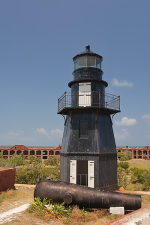 Garden Key Lighthouse atop Fort Jefferson in the Dry Tortugas, FL. © 2011 Kenneth R. Sheide