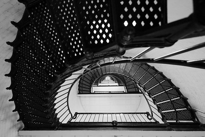 View up tower of St Augustine Lighthouse, St Augustine, FL. © 2021 Kenneth R. Sheide