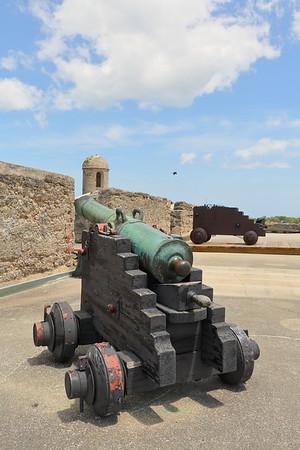 Cannon at Castillo de San Marcos, St Augustine, FL. © 2021 Kenneth R. Sheide