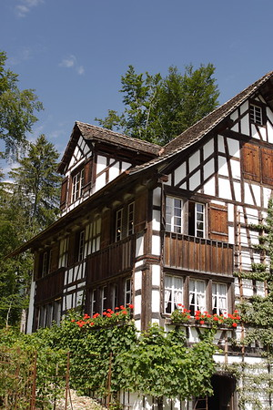 Swiss Half-timbered House