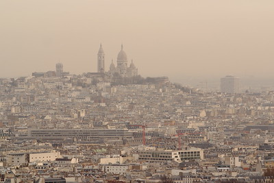 Basilique du Sacré-Cœur (Basilica of the Sacred Heart) dominating over Paris, France. © 2005 Kenneth R. Sheide