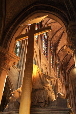 Inside Notre Dame, Paris, France. © 2005 Kenneth R. Sheide