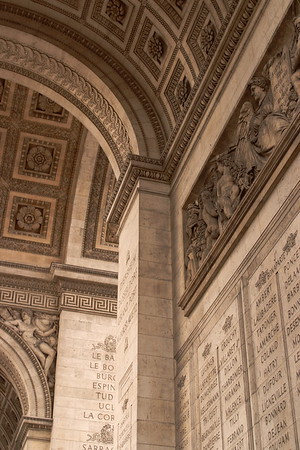 Inside the Arc de Triomphe (Arch of Triumph) in Paris, France. © 2005 Kenneth R. Sheide
