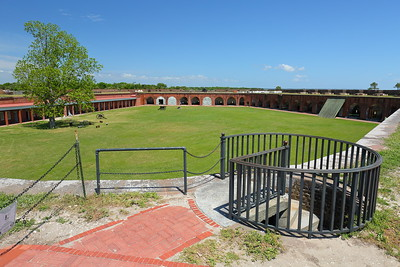 View of the courtyard at Fort Pulaski, GA. © 2021 Kenneth R. Sheide