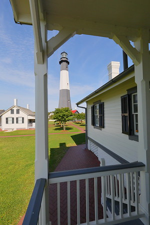 View from back porch of head keeper's cottage. Tybee Island Lighthouse, Tybee Island, GA. © 2021 Kenneth R. Sheide