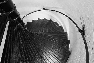 Stairs inside Tybee Island Lighthouse, Tybee Island, GA. © 2021 Kenneth R. Sheide