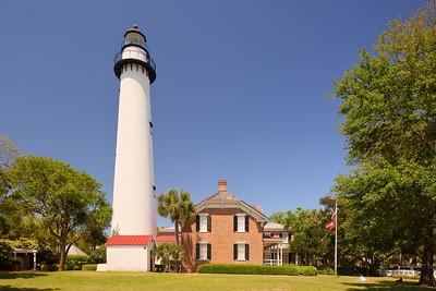 St Simons Island Lighthouse, St Simons Island, GA. © 2021 Kenneth R. Sheide