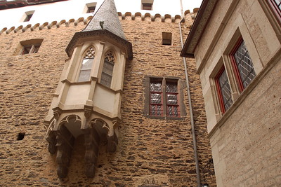 View from the inner courtyard of Eltz Castle, Germany. © 2004 Kenneth R. Sheide