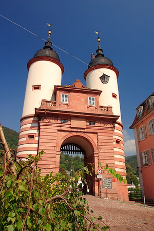 Gateway to Old (Carl Theodor) Bridge, Heidelberg, Germany. © 2004 Kenneth R. Sheide
