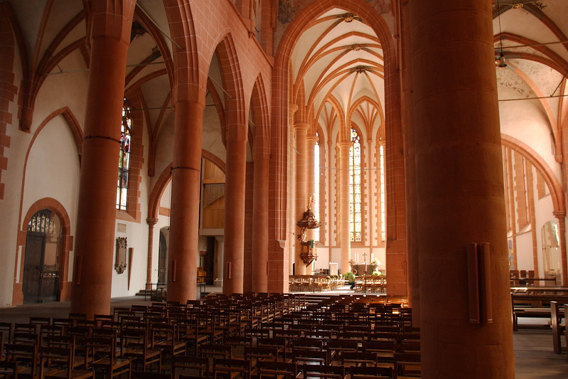 Interior of the Church of the Holy Spirit in Heidelberg, Germany. © 2004 Kenneth R. Sheide