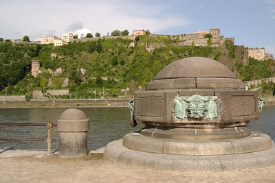 Deutsches Eck, where the Rhine & Mosel Rivers meet. Koblenz, Germany. © 2004 Kenneth R. Sheide