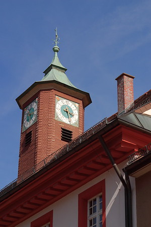 Clock tower in Triberg, Germany. © 2004 Kenneth R. Sheide