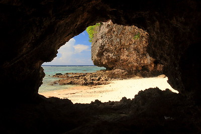 Small sea cave on Shark Cove Beach, Guam. © 2008 Kenneth R. Sheide