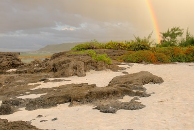 Rainbow over Tarague Beach, Guam. © 2008 Kenneth R. Sheide