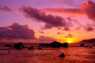 Sunrise over Tarague Beach, Guam. © 2009 Kenneth R. Sheide