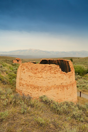 Collapsed brick kiln used to create charcoal for nearby mine smelters. Birch Creek, ID.  © 2021 Kenneth R. Sheide