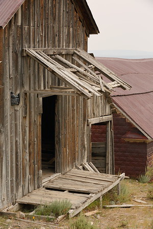 Old porch and covered roof at Gilmore, ID. © 2021 Kenneth R. Sheide