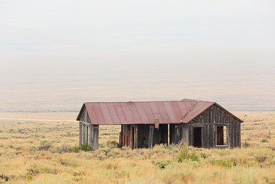 Metal-roofed building at Gilmore, ID. © 2021 Kenneth R. Sheide