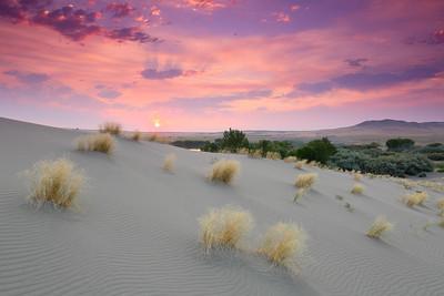 Sunrise at Bruneau Dunes State Park, ID. © 2021 Kenneth R. Sheide