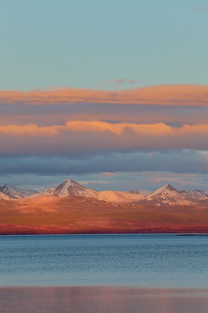 Sunset over Lake Yellowstone, WY. © 2013 Kenneth R. Sheide