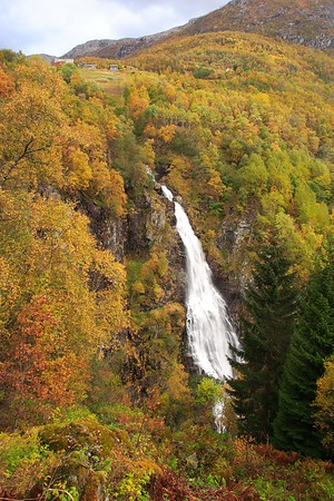 Waterfall near Gudvangen, Norway. © 2004 Kenneth R. Sheide
