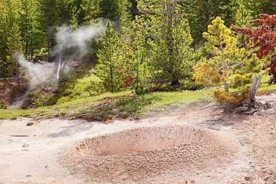 Muddy thermal feature in Artist Paint Pots, Yellowstone National Park, WY. © 2013 Kenneth R. Sheide