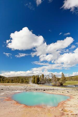 Black Opal Pool, Yellowstone National Park, WY. © 2013 Kenneth R. Sheide