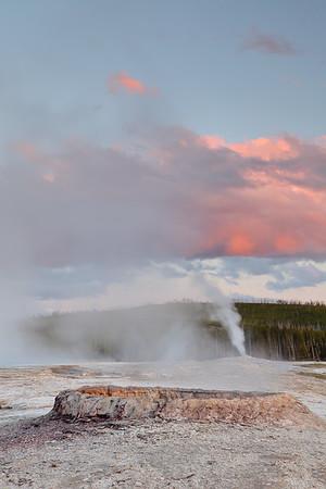 Sunset over Upper Geyser Basin, Yellowstone National Park, WY. © 2013 Kenneth R. Sheide