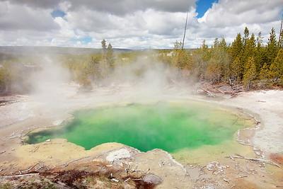 Emerald Spring, Norris Geyser Basin, Yellowstone National Park, WY. © 2013 Kenneth R. Sheide