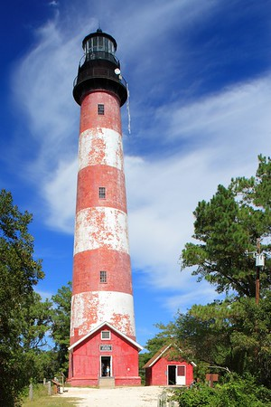 Assateague Lighthouse in Chincoteague National Wildlife Refuge, VA. © 2007 Kenneth R. Sheide