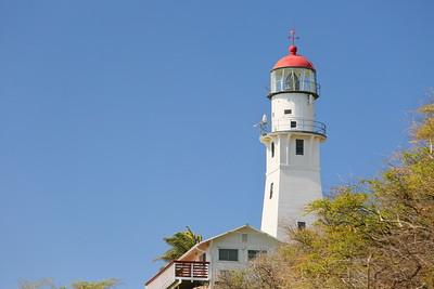 Diamond Head Lighthouse, Oahu, Hawai'i.  © 2020 Kenneth R. Sheide