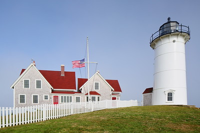 Nobska Lighthouse and keepers quarters built in 1876, with the keepers quarters expanded in 1895. Falmouth, MA. © 2021 Kenneth R. Sheide