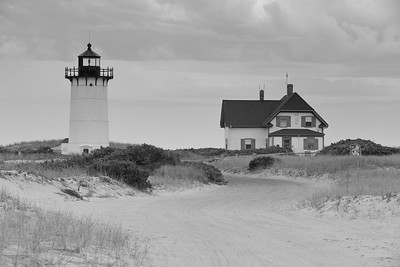 Road to Race Point Lighthouse built in 1876 to replace the original 1816 rubble stone tower. Provincetown, MA. © 2021 Kenneth R. Sheide