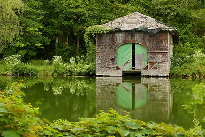 Old boathouse on Shawme Lake, Sandwich MA. © 2021 Kenneth R. Sheide