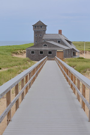 Old Harbor Life Saving Station built in 1897 in Chatham and later barged in 1977 to its current location in Provincetown, MA. © 2021 Kenneth R. Sheide