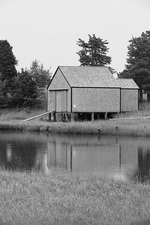 Boathouse beside the Salt Pond in Eastham, MA. © 2021 Kenneth R. Sheide