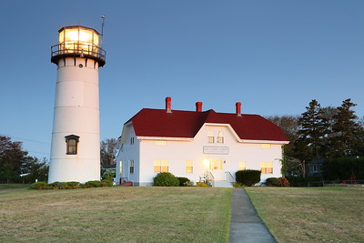 Chatham Lighthouse and Coast Guard Station at dawn, erected in 1877.  Chatham, MA. © 2021 Kenneth R. Sheide