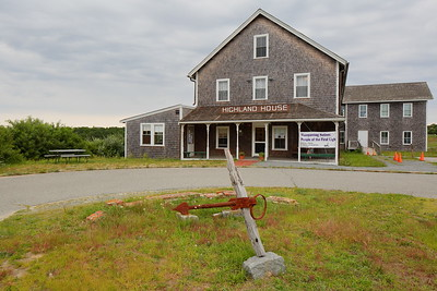 Old anchor in front of Highland House, built 1907 as a hotel, at Truro, MA. © 2021 Kenneth R. Sheide