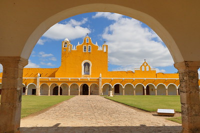Main courtyard of San Antonio de Padua Convent, Izamal, Yucatan, Mexico. © 2018 Kenneth R. Sheide