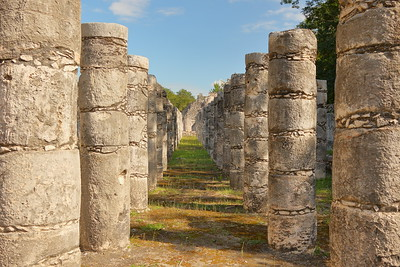 Columns at Chichen Itza, Yucatan, Mexico. © 2018 Kenneth R. Sheide