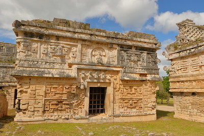Nunnery/Las Monjas with the Church beside it. Chichen Itza, Yucatan, Mexico. © 2018 Kenneth R. Sheide