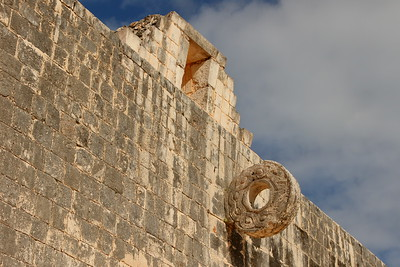 Ball court target at Chichen Itza, Yucatan, Mexico. © 2018 Kenneth R. Sheide